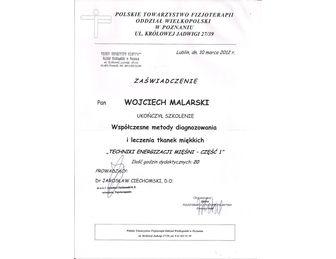 certyfikat leczenie tkanek miekkich