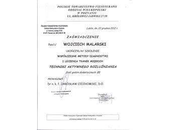 certyfikat techniki aktywnego rozluzniania
