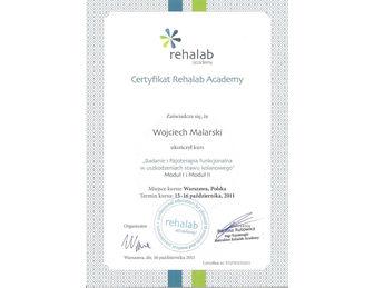 certyfikat uszkodzenia stawu kolanowego