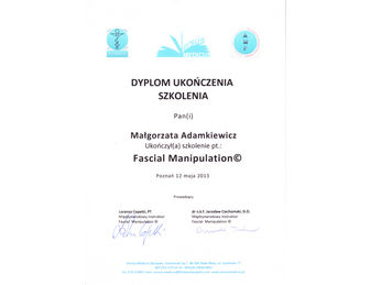certyfikat malgorzata adamkiewicz FM 2013